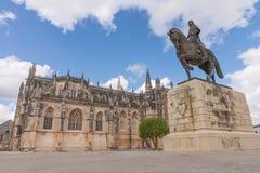 Abadía de Batalha Santa Maria da Vitoria Dominican, Portugal Foto de archivo libre de regalías