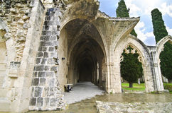 Abadía de Bellapais en Chipre ocupado septentrional Fotografía de archivo libre de regalías