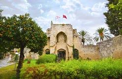 Abadía de Bellapais en Chipre ocupado septentrional Fotografía de archivo