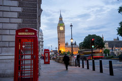 Abadía de Big Ben y de Westminster en Londres, Inglaterra Foto de archivo libre de regalías
