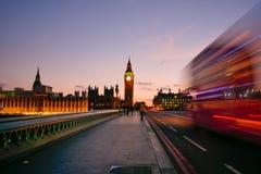 Abadía de Big Ben y de Westminster en Londres, Inglaterra Foto de archivo