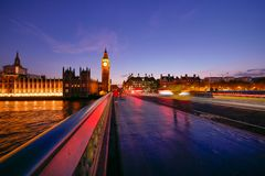Abadía de Big Ben y de Westminster en Londres, Inglaterra Fotos de archivo libres de regalías