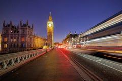 Abadía de Big Ben y de Westminster en Londres, Inglaterra Imágenes de archivo libres de regalías