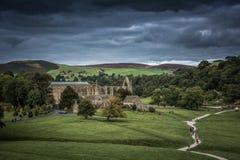 Abadía de Bolton en Yorkshire, Inglaterra Fotos de archivo libres de regalías