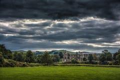 Abadía de Bolton en Yorkshire, Inglaterra Foto de archivo