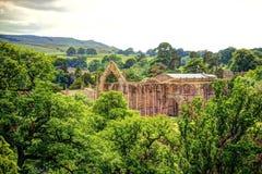 Abadía de Bolton en Yorkshire, Reino Unido. Imagen de archivo