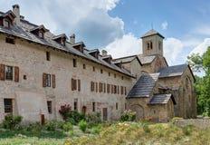 Abadía de Boscodon - Alpes - Francia Imagenes de archivo