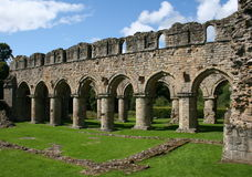 Abadía de Buildwas Foto de archivo libre de regalías
