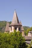 Abadía de Conques. Imagenes de archivo