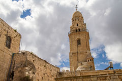 Abadía de Dormition, campanario Foto de archivo libre de regalías