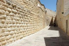Abadía de Dormition en el monte Sion Fotos de archivo libres de regalías