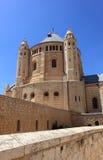Abadía de Dormition en el monte Sion, Israel Imagen de archivo