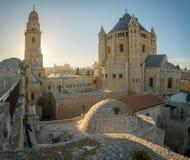 Abadía de Dormition, en Jerusalén Imagenes de archivo