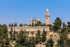 Abadía de Dormition en Jerusalén Fotografía de archivo