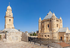 Abadía de Dormition en la ciudad vieja de Jerusalén Fotos de archivo
