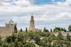 Abadía de Dormition, Jerusalén Foto de archivo