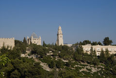 Abadía de Dormition, montaje Zion, Jerusalén, Israel Imagen de archivo