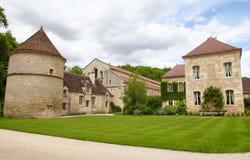 Abadía de Fontenay Imágenes de archivo libres de regalías