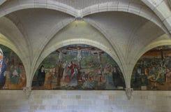 Abadía de Fontevraud que visita Fotos de archivo libres de regalías