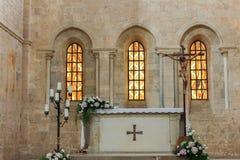 Abadía de Fossanova Imagen de archivo libre de regalías