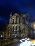 Abadía de Hexham por crepúsculo Foto de archivo