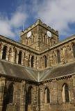 Abadía de Hexham y torre de reloj Foto de archivo libre de regalías