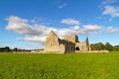Abadía de Hore cerca de la roca de Cashel Imagenes de archivo