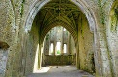 Abadía de Hore, monasterio cisterciense arruinado cerca de la roca de Cashel, Irlanda Fotos de archivo