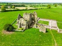 Abadía de Hore, monasterio cisterciense arruinado cerca de la roca de Cashel, Irlanda Imagenes de archivo