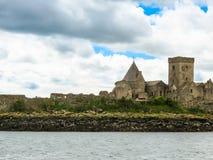 Abadía de Inchcolm en el brazo de mar de adelante Edimburgo, Escocia Imagenes de archivo