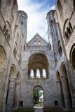 Abadía de Jumieges, ruinas de la abadía a partir de 1067, Normandie, Francia Fotos de archivo