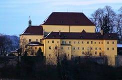 Abadía de Kapuzinerberg en Salzburg por la tarde Fotografía de archivo libre de regalías