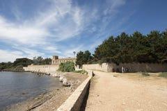 Abadía de Lérins, Francia Imágenes de archivo libres de regalías