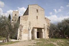 Abadía de la abadía de Antimo Castelnuovo Abate Montalcino Siena Toscana Italia del ` de Sant del ` Antimo Castelnuovo Abate Mont Foto de archivo libre de regalías