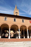 Abadía de la basílica de San Mercuriale en Forlì, Italia Foto de archivo