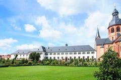 Abadía de la basílica y del benedictino en Seligenstadt Fotografía de archivo libre de regalías