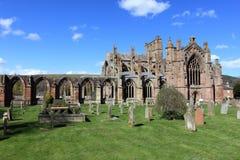 Abadía de la colada en la frontera de Escocia Fotografía de archivo libre de regalías