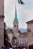 Abadía de la iglesia de monasterio de la mujer en Zurich Fotografía de archivo