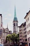Abadía de la iglesia de monasterio de la mujer en Zurich Foto de archivo libre de regalías