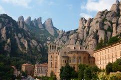 Abadía de la montaña de Montserrat Imágenes de archivo libres de regalías