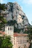 Abadía de la montaña de Montserrat Foto de archivo libre de regalías