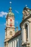 Abadía de la rozadura del santo - la catedral católica en Suiza Foto de archivo
