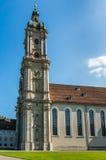 Abadía de la rozadura del santo - la catedral católica en Suiza Imágenes de archivo libres de regalías