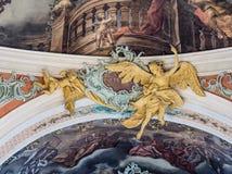 Abadía de la rozadura del santo, St Gallen, Suiza Foto de archivo