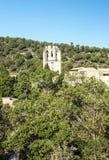Abadía de Lagrasse Foto de archivo libre de regalías