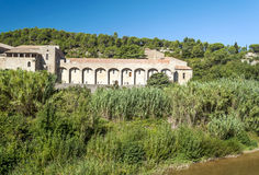 Abadía de Lagrasse Fotos de archivo libres de regalías