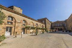 Abadía de Lagrasse Imágenes de archivo libres de regalías
