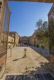 Abadía de Lagrasse Imagen de archivo libre de regalías