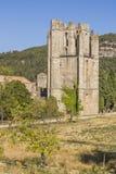 Abadía de Lagrasse, Francia Foto de archivo libre de regalías