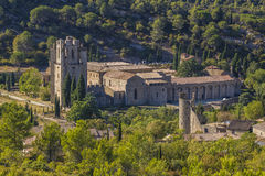 Abadía de Lagrasse, Francia Fotos de archivo libres de regalías
